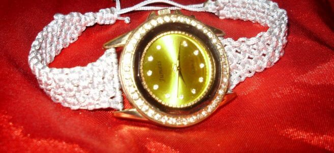 часы с ремешком ручной работы